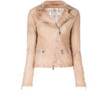 faded biker jacket