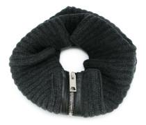 Gerippter Schal mit Reißverschluss