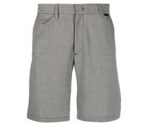 Shorts mit kleinem Hahnentrittmuster