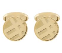 check engraved cufflinks