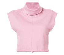 crop turtle neck sweatshirt top
