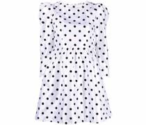 Gepunktetes Kleid mit eckigem Ausschnitt
