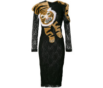lace tiger shawl dress