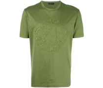 T-Shirt mit aufgesticktem Medusa-Logo