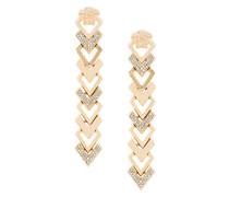 embellished arrow drop earrings