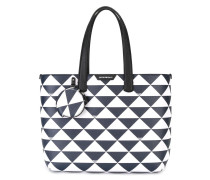 Shopper mit Dreiecks-Print