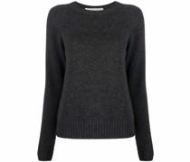 purl-knit ribbed-trim jumper
