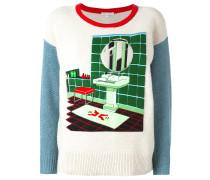 Pullover mit Badezimmer-Patch