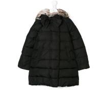 bow detail midi coat