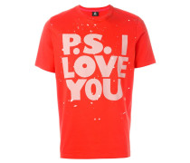 'P.S. I Love You' T-Shirt mit Print