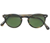 Gregory Peck round-frame sunglasses