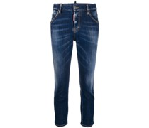 'Maple Leaf' Cropped-Jeans