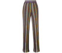 Plissierte Hose mit Streifen