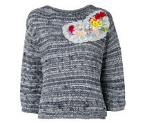 Pullover mit Blumenapplikationen - women