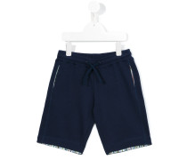 Shorts mit Kontrastdetails - kids - Baumwolle