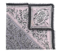 baroque pattern print scarf