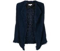 shawl collar open cardi-coat
