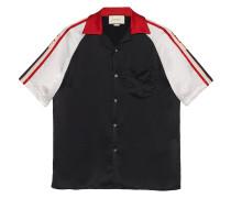 Bowling-Shirt mit  Streifen