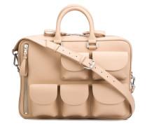 Aktentasche mit aufgesetzten Taschen