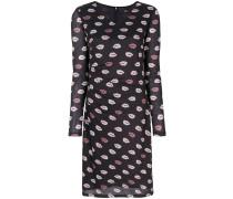 Kleid mit Lippen-Print