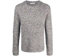 Melierter Pullover aus geripptem Strick
