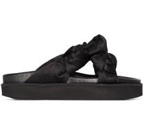 Flatform-Sandalen mit Knoten
