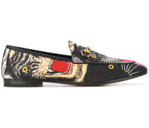 Angry Cat printed loafers