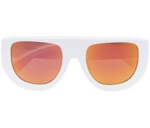White and Orange Ines 2 Sunglasses
