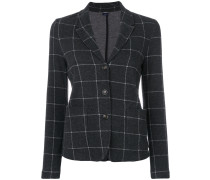 grid patterned blazer