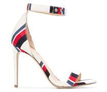 Stiletto-Sandalen mit Streifen