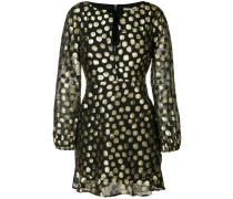 metallic polka dot dress