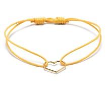 Armband mit 9kt Gelbgold-Katze