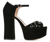 'Adriana' Plateau-Sandalen mit Verzierung