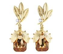 Bug crystal-embellished drop earrings