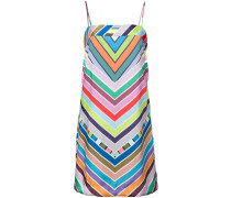rainbow chevron striped mini dress