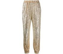 sequin embellished trousers