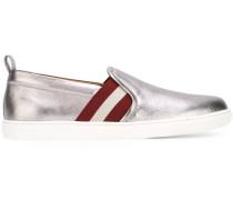 Gestreifte Sneakers mit Metallic-Effekt