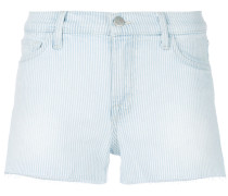 striped cut-off shorts