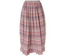 ruffle-trim billow skirt