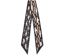 hexagon print scarf