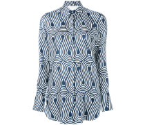Hemd mit Wellen-Print - women - Seide/Baumwolle