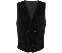 corduroy double-breasted waistcoat