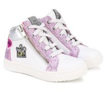 High-Top-Sneakers mit Glitzer-Finish