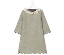 Kleid mit floralem Lochstrickmuster