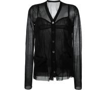 Transparente 'V-Neck' Bluse