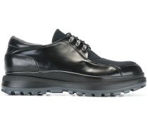 panelled lace-up shoes
