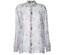 Seidenhemd mit geometrischem Print - women