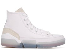 Flache High-Top-Sneakers