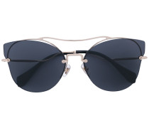 - rimless cat eye sunglasses - women