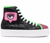 Sneakers mit Glitter-Einsätzen